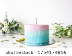 Multicolor Cake With Topper...