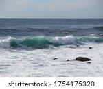 Waves In Carmel By The Sea In...