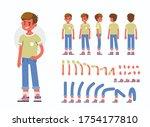 little boy character... | Shutterstock .eps vector #1754177810