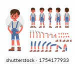 little boy character... | Shutterstock .eps vector #1754177933