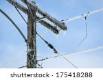 Glazed Power Line Utility Pole...