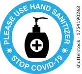 hand sanitizer sign vector...   Shutterstock .eps vector #1754190263