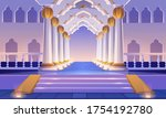 castle corridor with staircase  ... | Shutterstock .eps vector #1754192780
