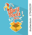 april fools day over blue... | Shutterstock .eps vector #175420259