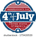 vintage fourth of july... | Shutterstock .eps vector #175420520