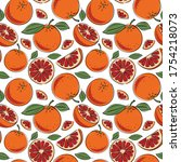 seamless pattern with slices of ... | Shutterstock .eps vector #1754218073