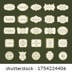large collection of vintage... | Shutterstock .eps vector #1754224406