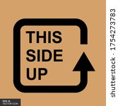 this side up flat icon isolated ... | Shutterstock .eps vector #1754273783
