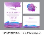 wedding invitation cards with... | Shutterstock .eps vector #1754278610