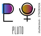 planet symbol  sign of pluto....   Shutterstock .eps vector #1754282426