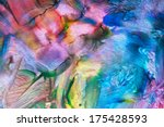 art abstract bright rainbow oil ... | Shutterstock . vector #175428593