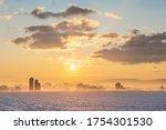 Winter Sunrise Over A...