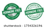 hormone free labels and stamp... | Shutterstock .eps vector #1754326196