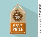 shopping design over blue... | Shutterstock .eps vector #175433300