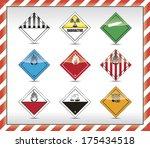 isolated danger symbol   sign... | Shutterstock . vector #175434518