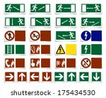 danger  warning  exit sign  ... | Shutterstock . vector #175434530