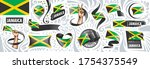 vector set of the national flag ... | Shutterstock .eps vector #1754375549