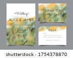 wedding invitation cards with... | Shutterstock .eps vector #1754378870