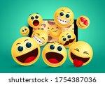 Smiley Emoji In Phone Vector...