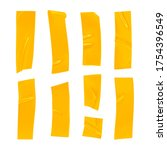 yellow duct tape set. realistic ... | Shutterstock .eps vector #1754396549