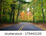 Winding Highway Road Through...