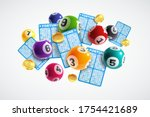 lottery banner. realistic... | Shutterstock .eps vector #1754421689