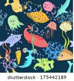 vector underwater landscape... | Shutterstock .eps vector #175442189