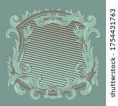 renaissance heraldry. flora... | Shutterstock .eps vector #1754431763