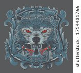 wolf chief with renaissance... | Shutterstock .eps vector #1754431766