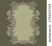 renaissance heraldry. flora... | Shutterstock .eps vector #1754431769