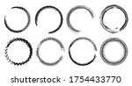 tire track circle grunge frame. ... | Shutterstock .eps vector #1754433770