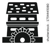 Waterwheel Mill Icon. Simple...
