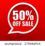 fifty percent off sale | Shutterstock . vector #175446914