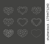 set of white geometric... | Shutterstock .eps vector #1754471240