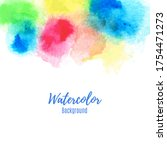 colorful watercolor paint... | Shutterstock .eps vector #1754471273
