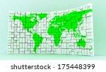 world block map panel | Shutterstock . vector #175448399