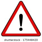 rounded triangle shape hazard... | Shutterstock . vector #175448420