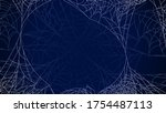 spider web on dark background... | Shutterstock .eps vector #1754487113
