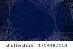 spider web on dark background...   Shutterstock .eps vector #1754487113
