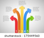image of colorful infographics... | Shutterstock .eps vector #175449560