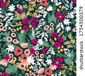 stylized retro pattern with... | Shutterstock .eps vector #1754500379