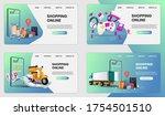 shopping online on mobile... | Shutterstock .eps vector #1754501510