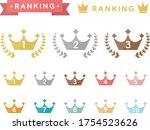 set of ranking flat icons | Shutterstock .eps vector #1754523626