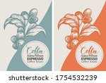 coffee labels in retro style.... | Shutterstock .eps vector #1754532239