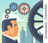strategic thinking concept... | Shutterstock .eps vector #175454309