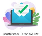 approved email message notice... | Shutterstock .eps vector #1754561729