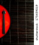 japanese red lacquer ware and... | Shutterstock . vector #175459019