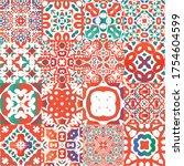 mexican ornamental talavera...   Shutterstock .eps vector #1754604599