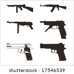 illustration of a guns on a... | Shutterstock .eps vector #17546539