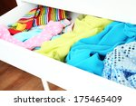 open drawer with clothes close... | Shutterstock . vector #175465409